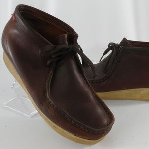 Clarks Padmore Wallabee Brown Leather 10